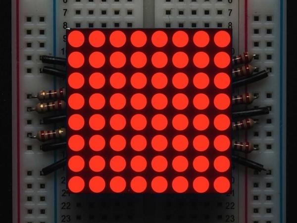 "Small 1.2"" 8x8 Ultra Bright Red LED Matrix"