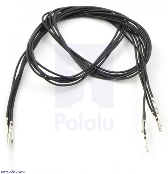 Kabel mit gecrimpten M-F Terminals (60 cm, schwarz, 5 Stück)