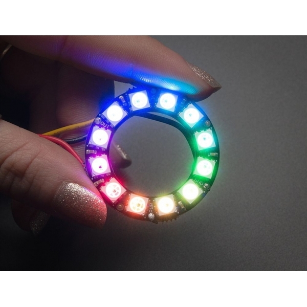 Adafruit NeoPixel Ring - 12 x WS2812 5050 RGB LED with Integrated Drivers