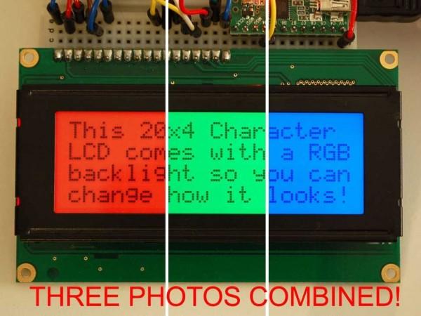 Adafruit RGB backlight positive LCD 20x4 + extras