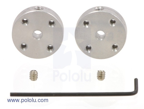 Pololu Universal Aluminum Mounting Hub for 3mm Shaft 2-56 Holes (2-Pack)