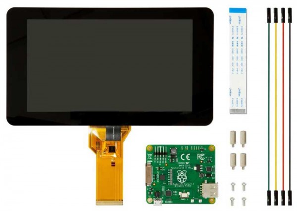 """Raspberry Pi Display 7"""" Touch Screen Display with 10 Finger Capacitive Touch"""