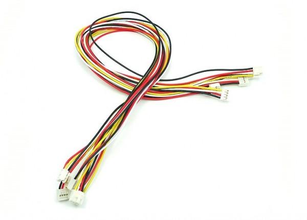 Seeed Studio Grove - Universal 4 Pin Buckled 50cm Kabel (5 Stück)