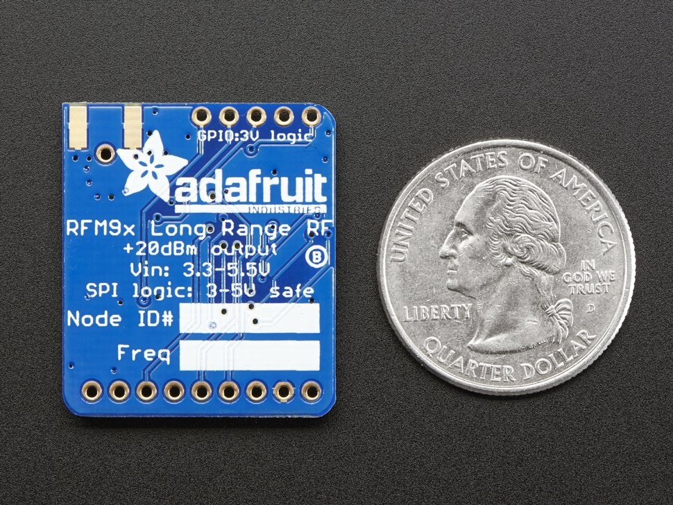 Adafruit RFM95W LoRa Radio Transceiver Breakout - 868 or 915 MHz